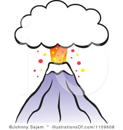 400x420 Volcano Clipart Black And White