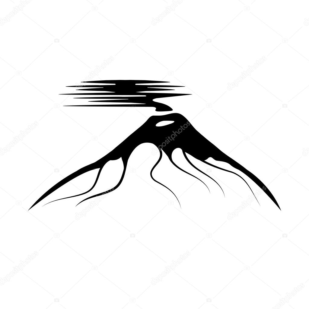1024x1024 Vector Abstract Illustration Of Volcano Cotopaxi In Ecuador