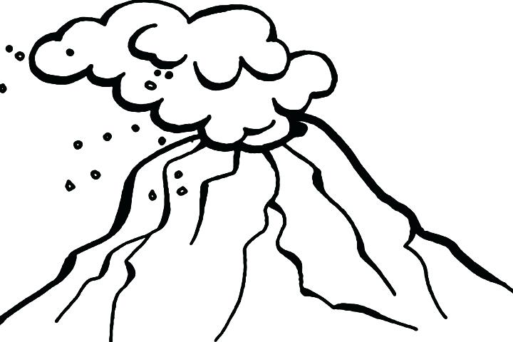 720x480 Volcano Coloring Page