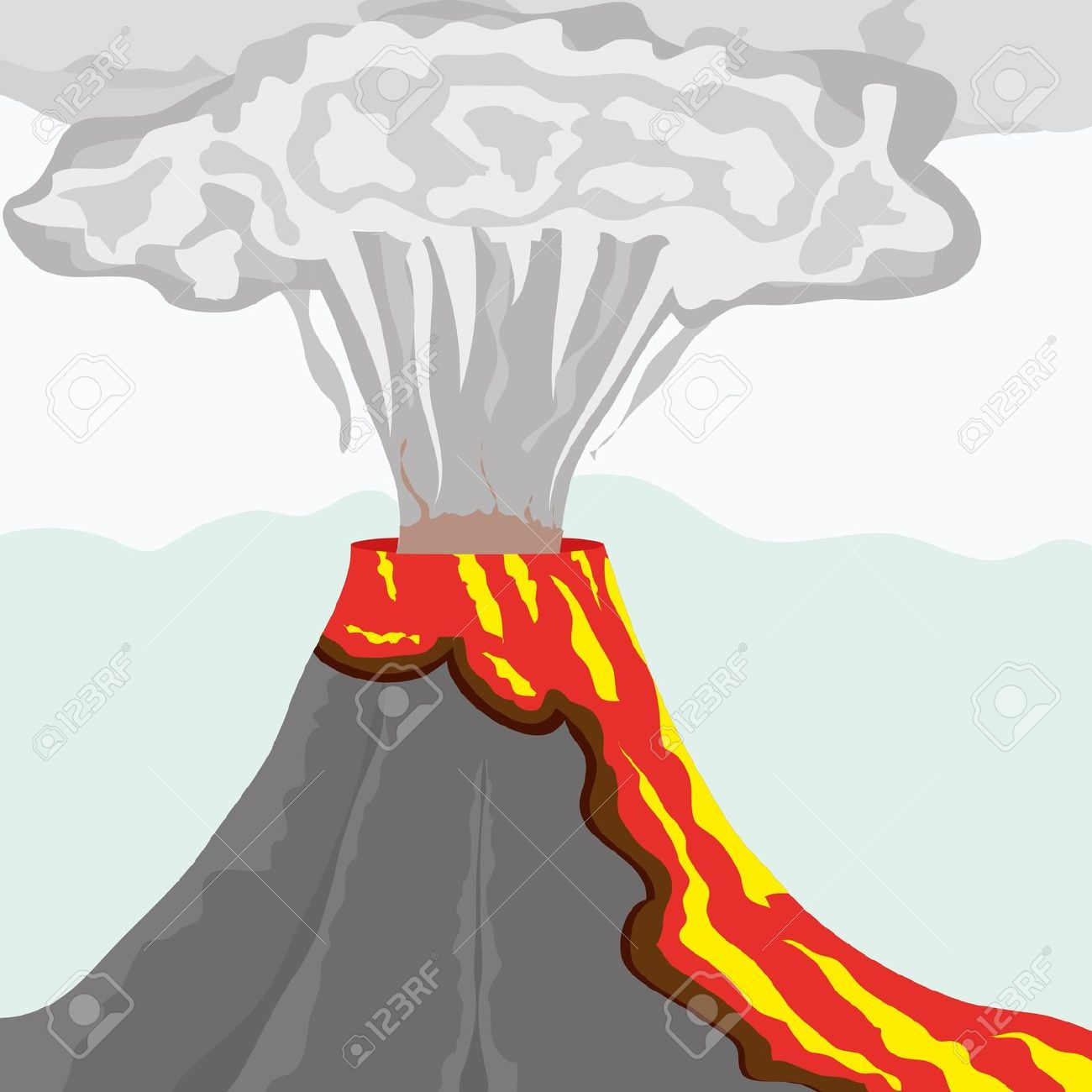 1300x1300 Lava Clipart Volcano Eruption