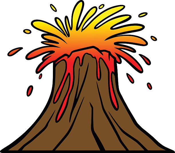 612x534 Volcano clipart brown