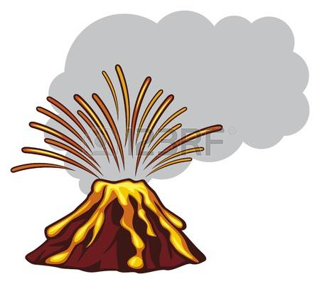 450x399 Volcano Clipart Erruption