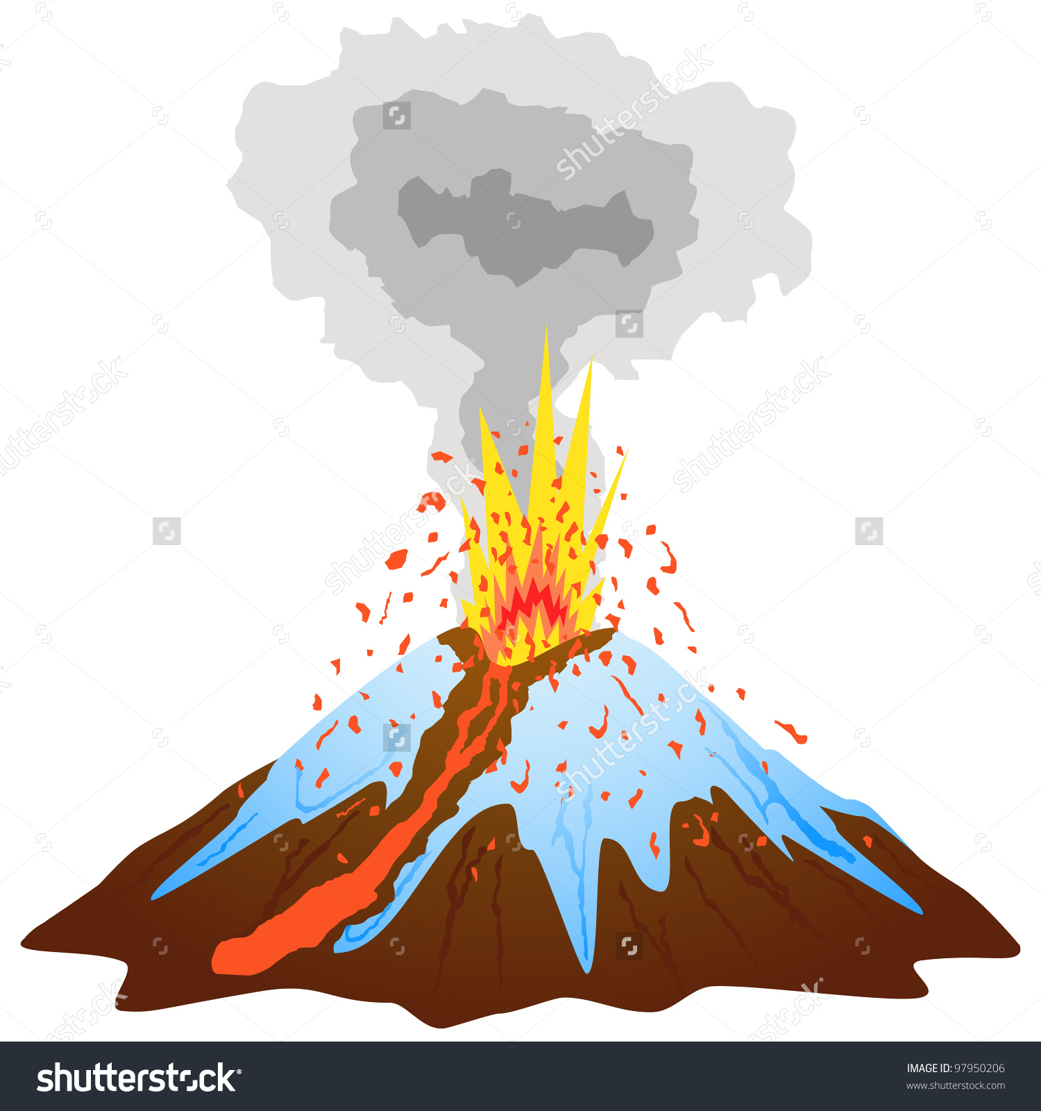 1500x1600 Volcano Clip Art