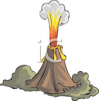 345x350 Erupting Volcano