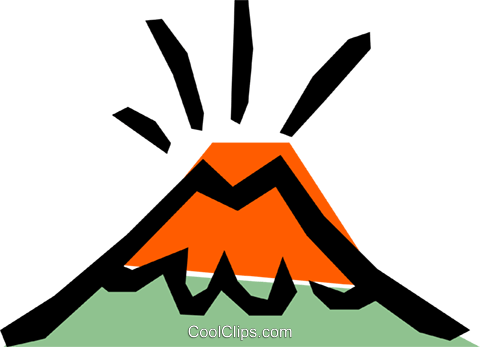 480x347 Volcanoes Royalty Free Vector Clip Art Illustration Natu0181
