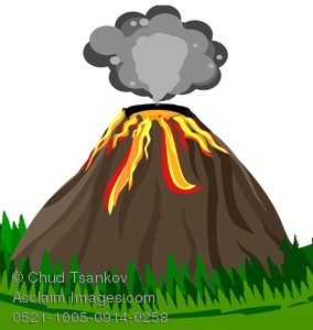 284x300 Clipart Of Volcanoes