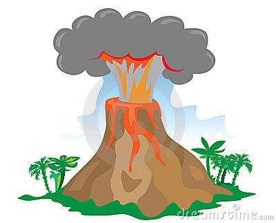 400x323 Volcano Clipart Comic