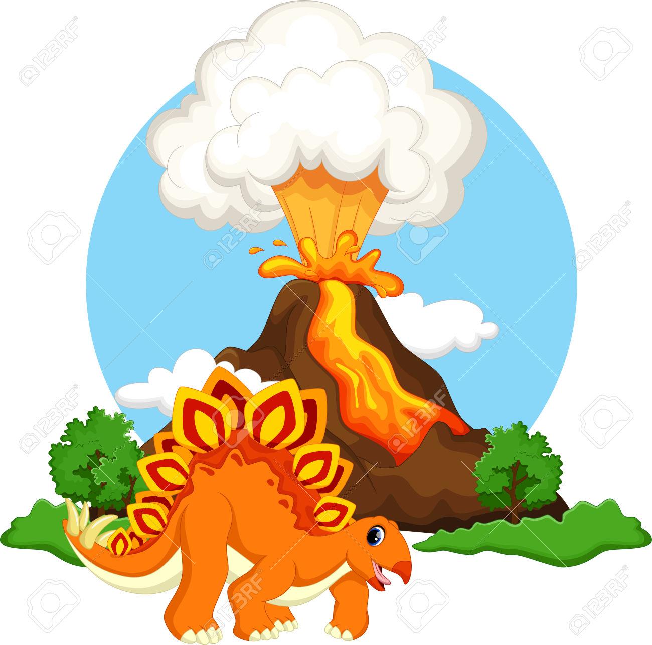 1300x1286 Volcano Clipart Dinosaur
