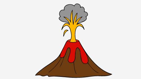 454x255 Volcano Clipart Pompeii