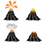 150x150 Volcano Lava Explosion Icon Royalty Free Vector Clip Art Image