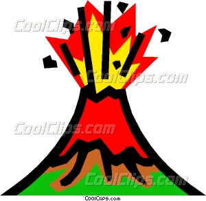 300x293 Volcanoes Vector Clip Art