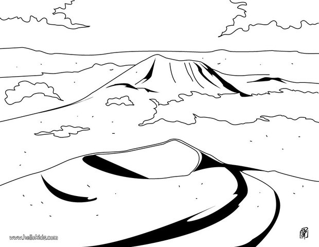 620x480 Auvergne Volcano Coloring Pages