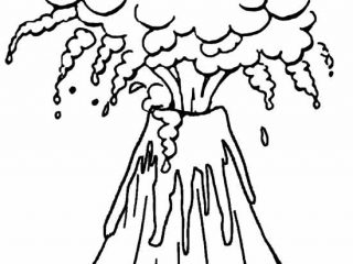 320x240 Volcano Coloring Sheet Printable Volcano Coloring Pages For Kids