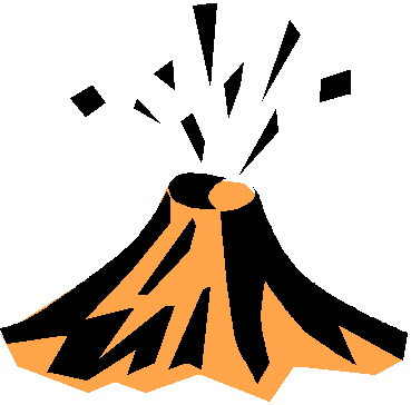 369x364 Volcano Clipart Cartoon