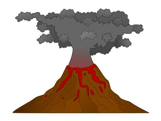 516x390 Drawn Volcano Animated