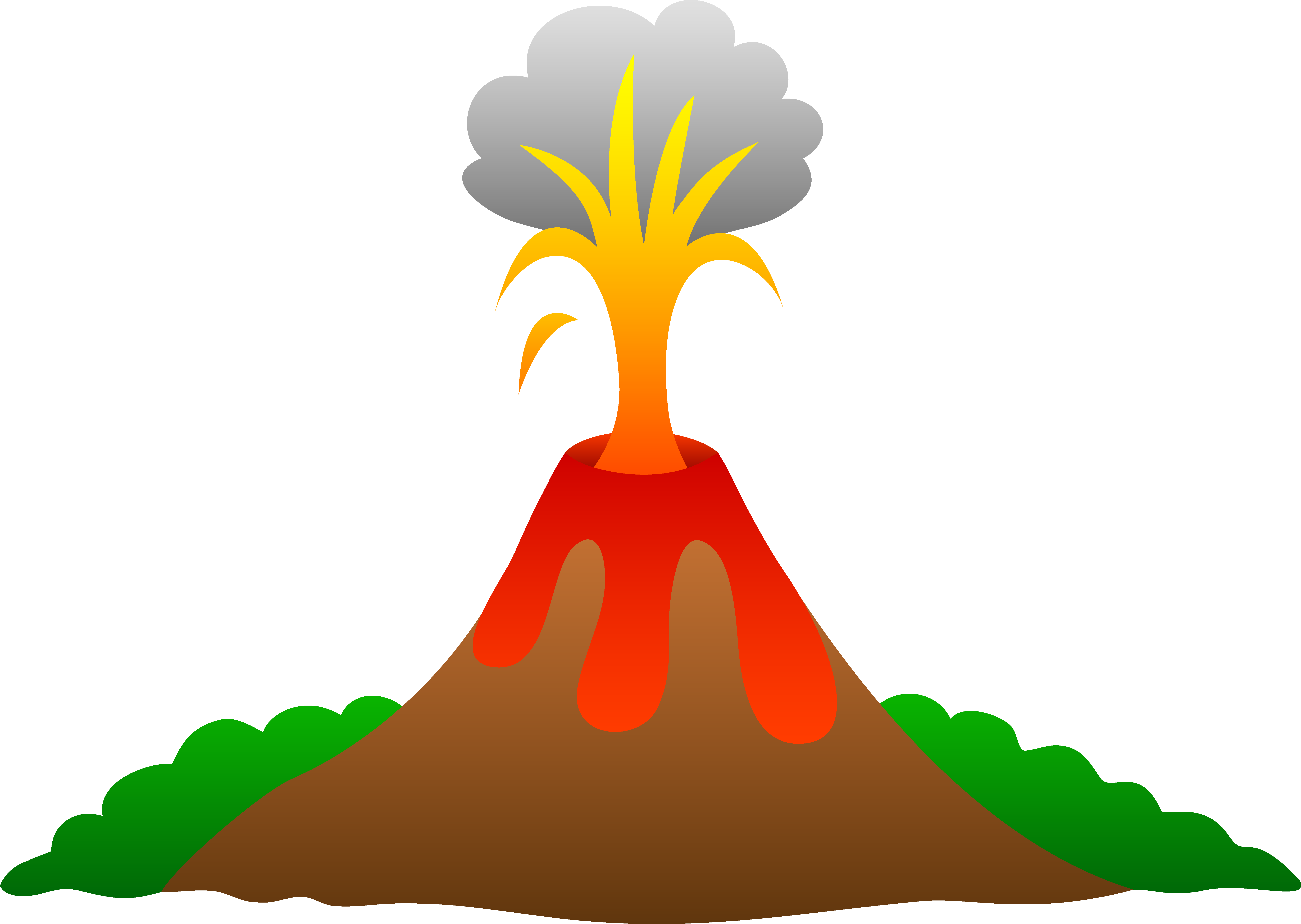 7520x5343 Clipart Of Volcanoes