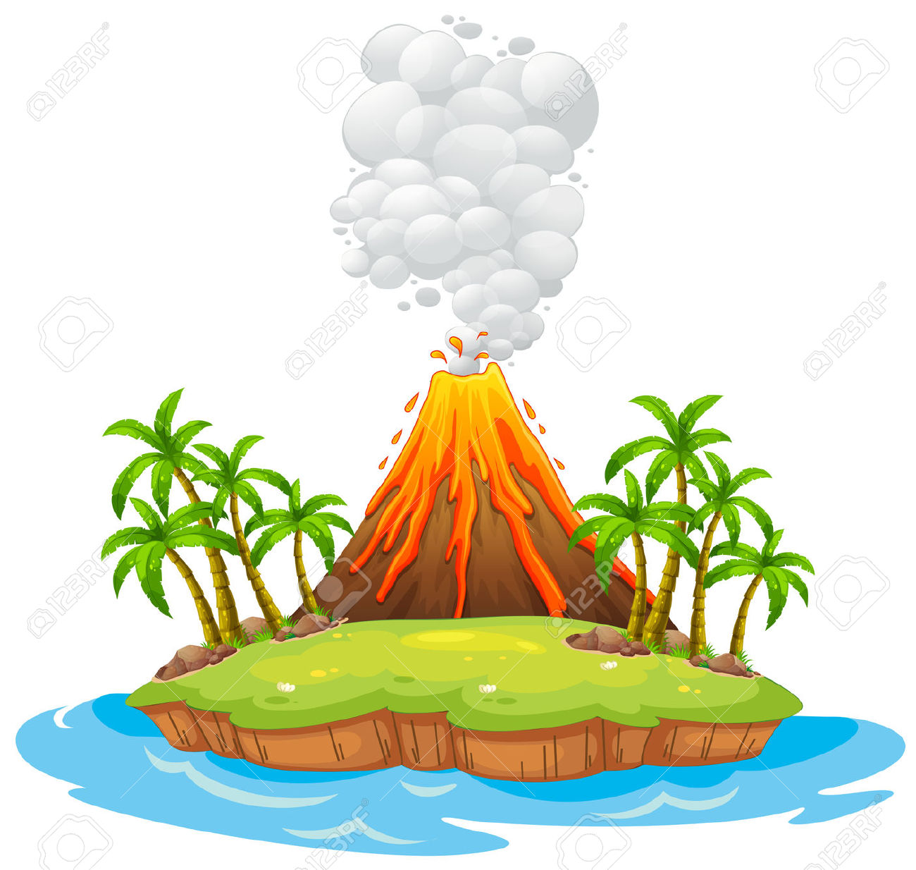 1300x1234 Island Clipart Animated