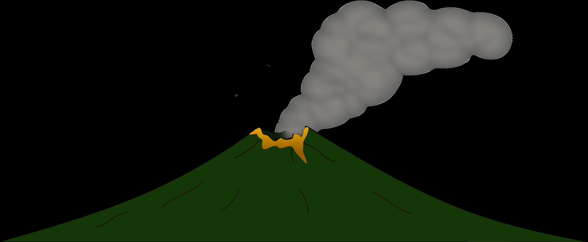 2400x989 Volcano Clipart Big
