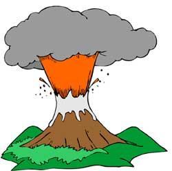 250x249 Active Volcano Clipart