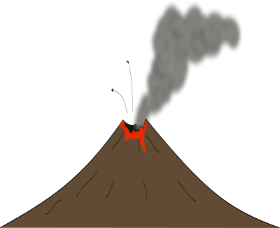 400x326 Background Clipart Volcano