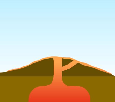 450x400 Shield Volcano Clipart