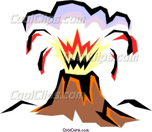 300x260 Volcanoes Vector Clip Art