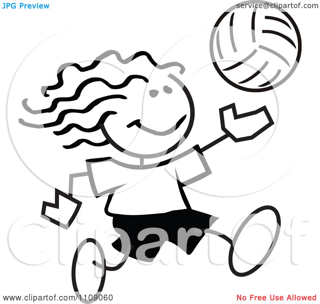 1080x1024 Girls Volleyball Clip Art Clipart Panda