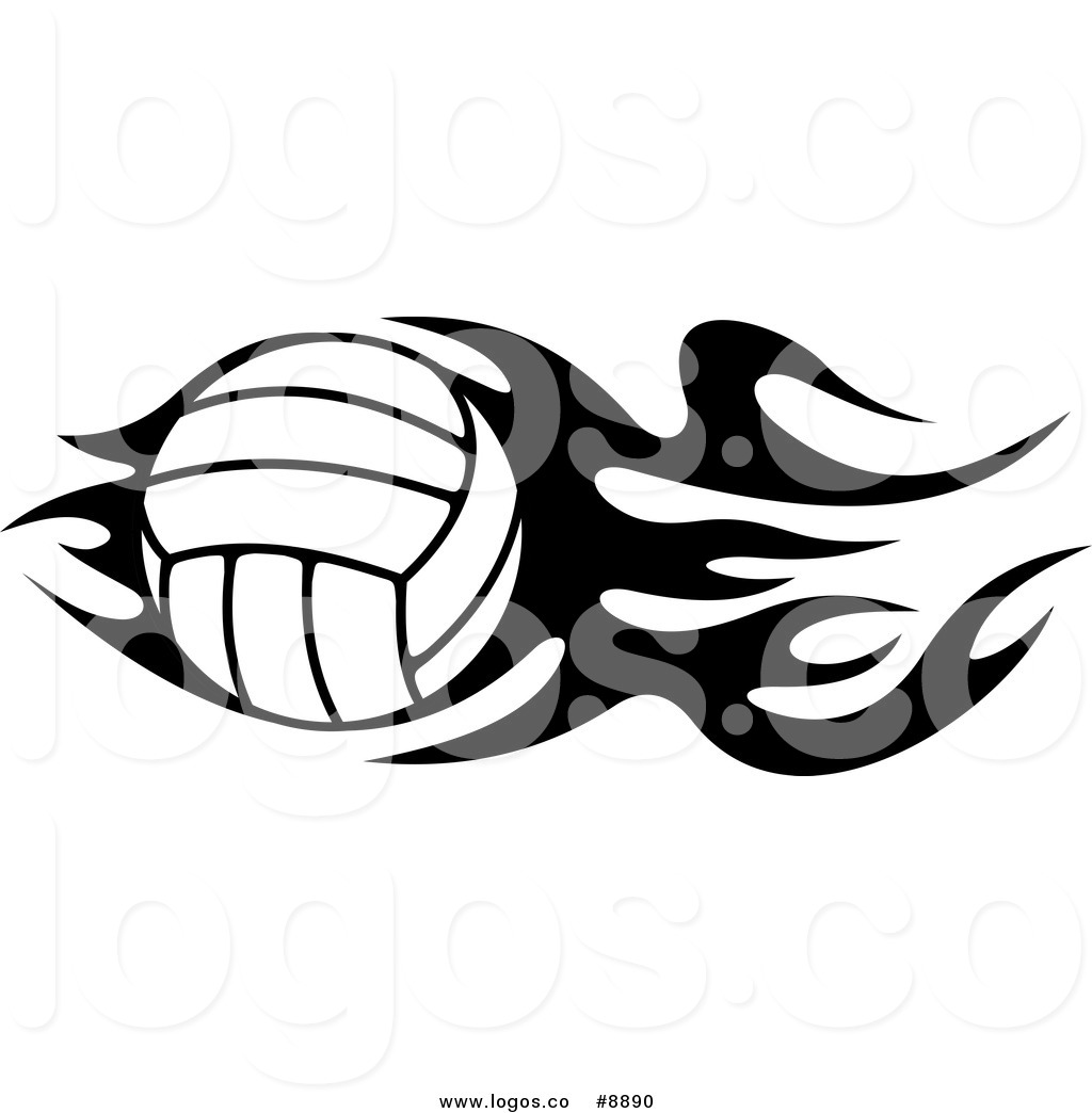 1024x1044 Royalty Free Flaming Volleyball Stock Logo Designs