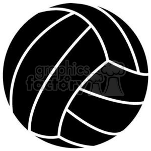 300x300 Royalty Free Black Volleyball 381197 Vector Clip Art Image