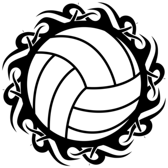 340x340 Tribal Clipart Volleyball
