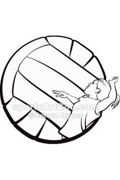 236x354 Volleyball! Eps File, Jpeg, Png, Sketchy, Screen Printing, Clip
