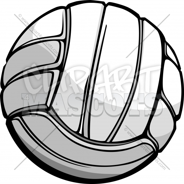 590x590 Volleyball Ball Vector Graphic Clipart Logo