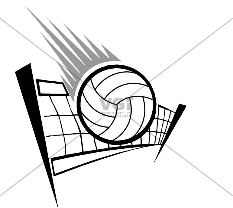 771x691 Volleyball Vector Art