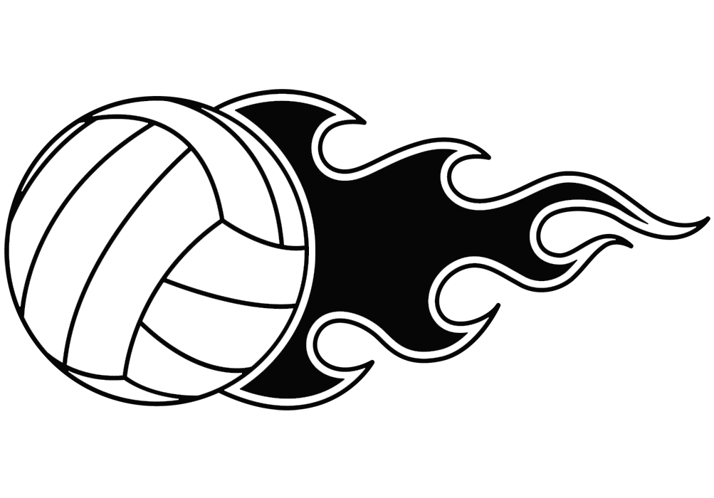 1003x700 Volleyball Clip Art On Volleyball Free Illustrations Clipartcow