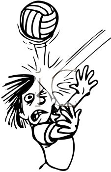 226x350 Blacknd White Cartoon Of Kid Getting Hit In The Face