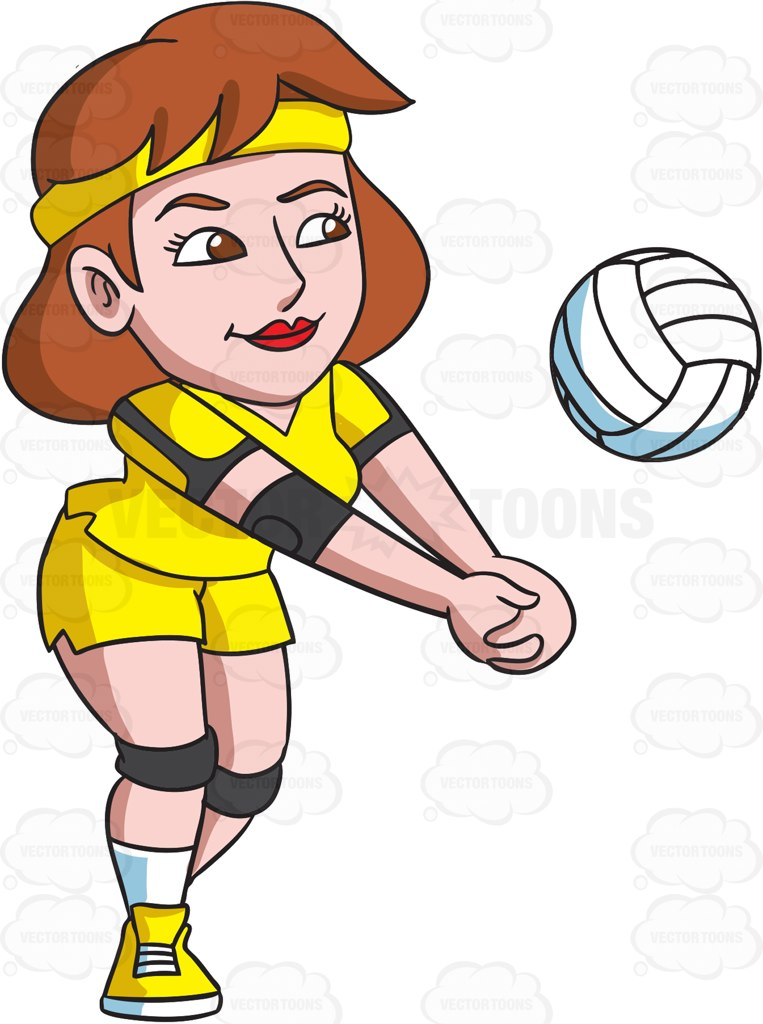 Volleyball Cartoon Clipart