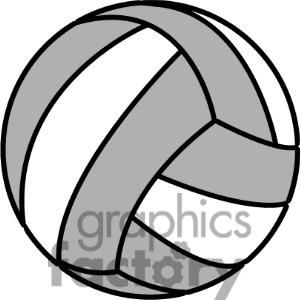 300x300 Clip Art Volleyball On Fire Clipart