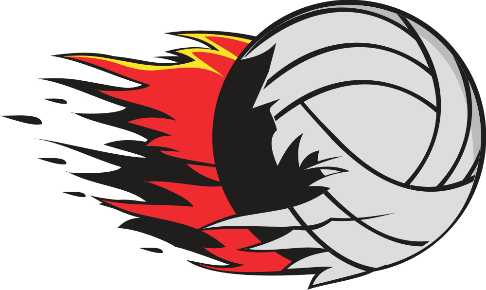 1000x596 Flaming volleyball clipart free images