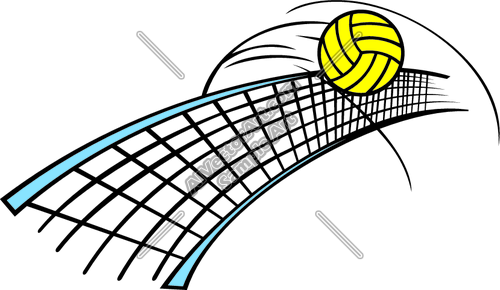 500x290 Free Volleyball Net Clipart Image
