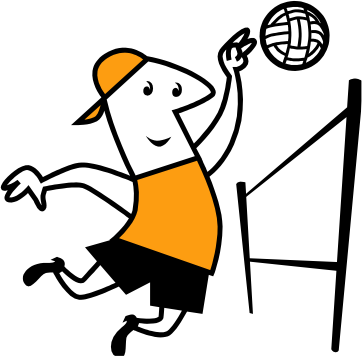 362x356 Image of Playing Volleyball Clipart