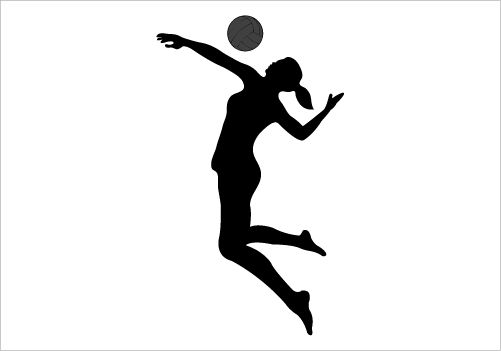501x351 Image of Playing Volleyball Clipart