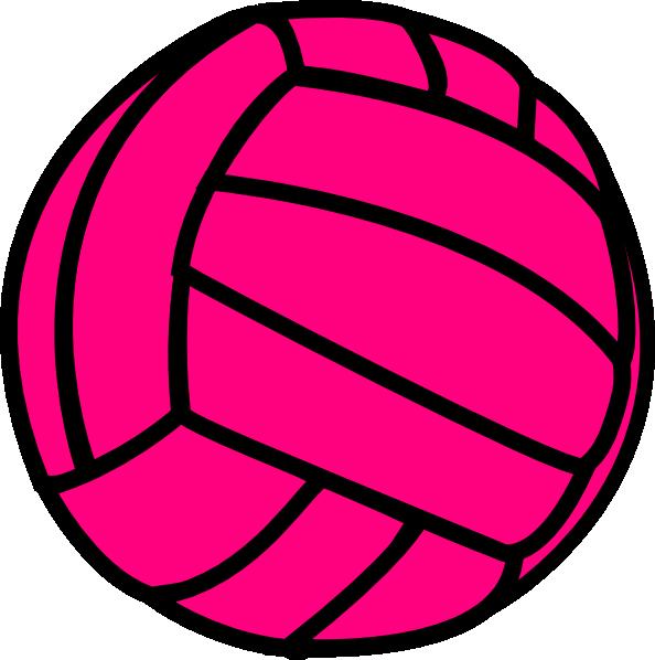 594x598 Pink Volleyball Clip Art