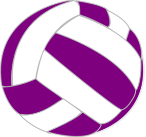 300x282 Purple And White Volleyball Clip Art