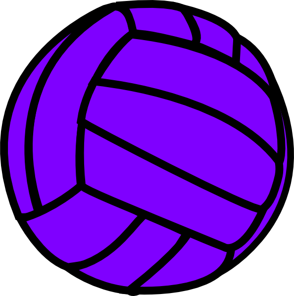 594x598 Purple Volleyball Clip Art