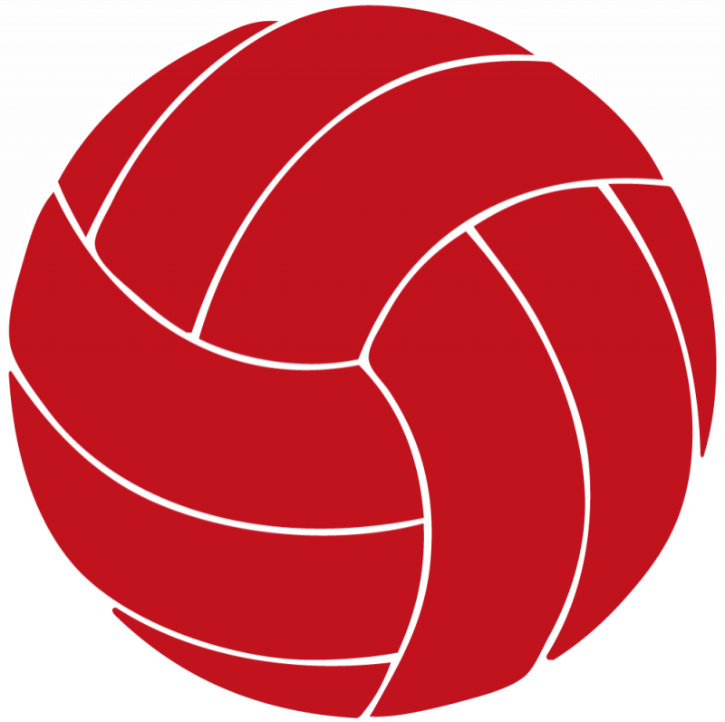 800x796 Red clipart volleyball
