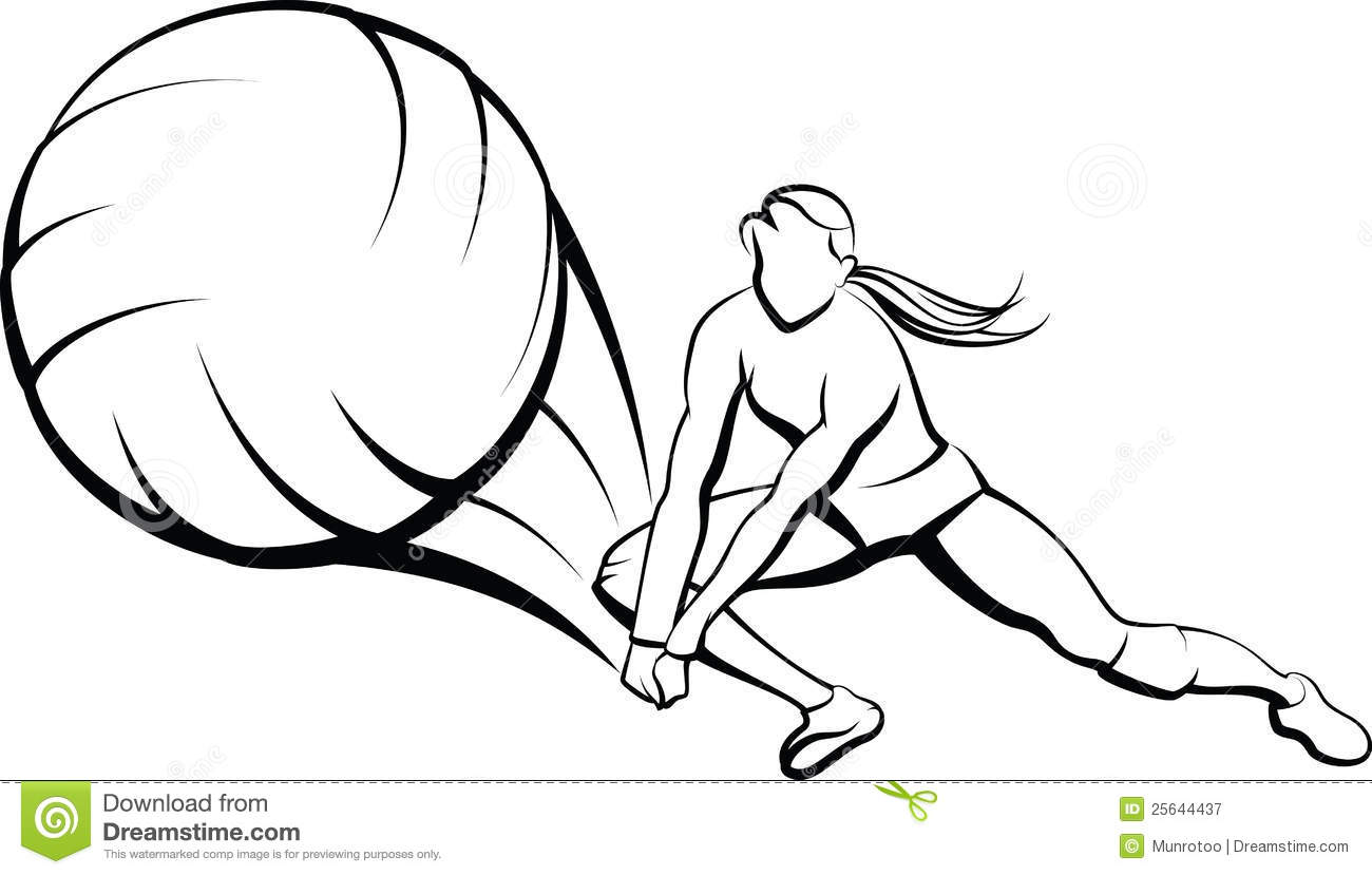 1300x829 Volleyball Outline Clipart