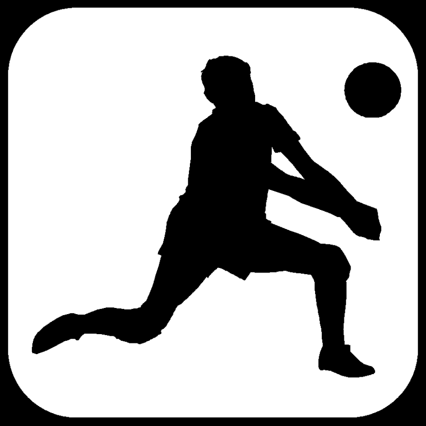 830x830 Volleyball Player Clipart