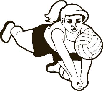 350x308 Volleyball clipart free kids free clipart images