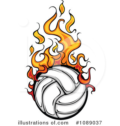 400x420 Volleyball clipart image clip art illustration of a yellow image
