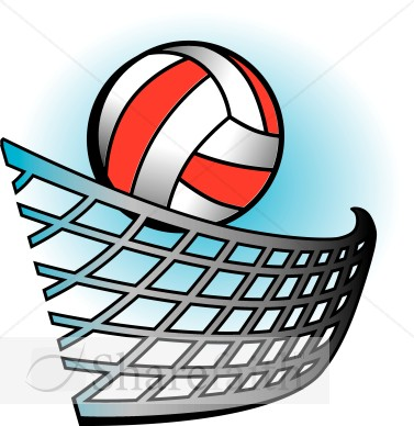 377x388 Volleyball in Color Youth Program Clipart